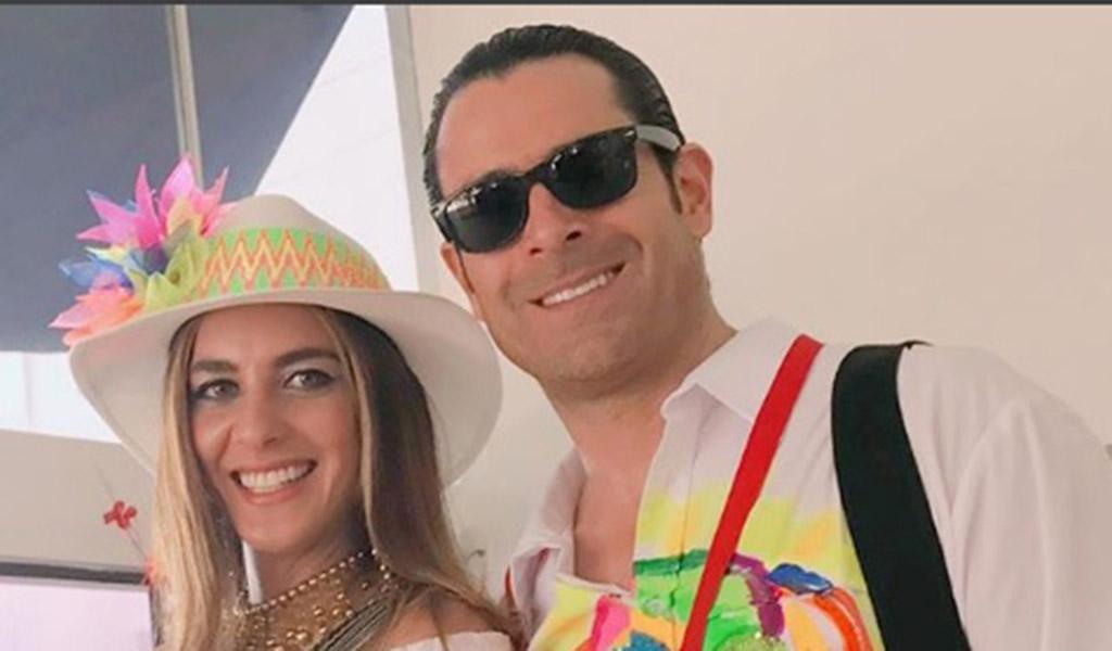 La exreina Adriana Tarud y su esposo, el actor Rafael Novoa no se perdieron las fiestas del carnaval.