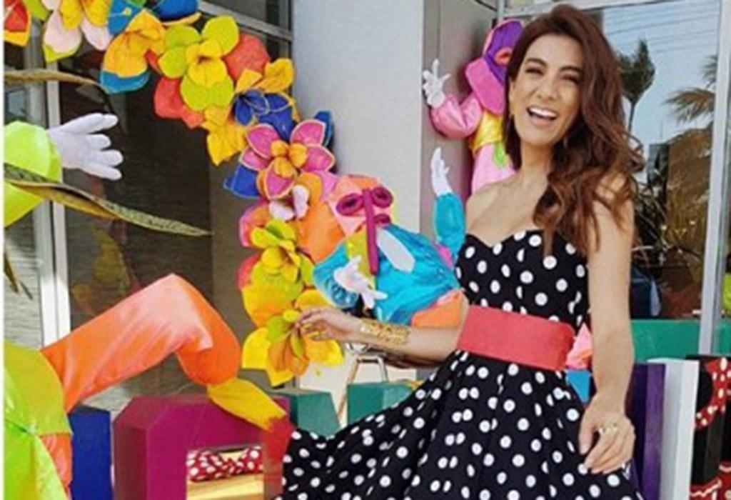 La presentadora caleña Andrea Serna no se perdió la gran fiesta del Carnaval.
