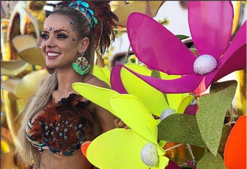 Elianis Garrido como buena barranquillera jamás deja pasar un carnaval, es una fecha muy importante para ella.