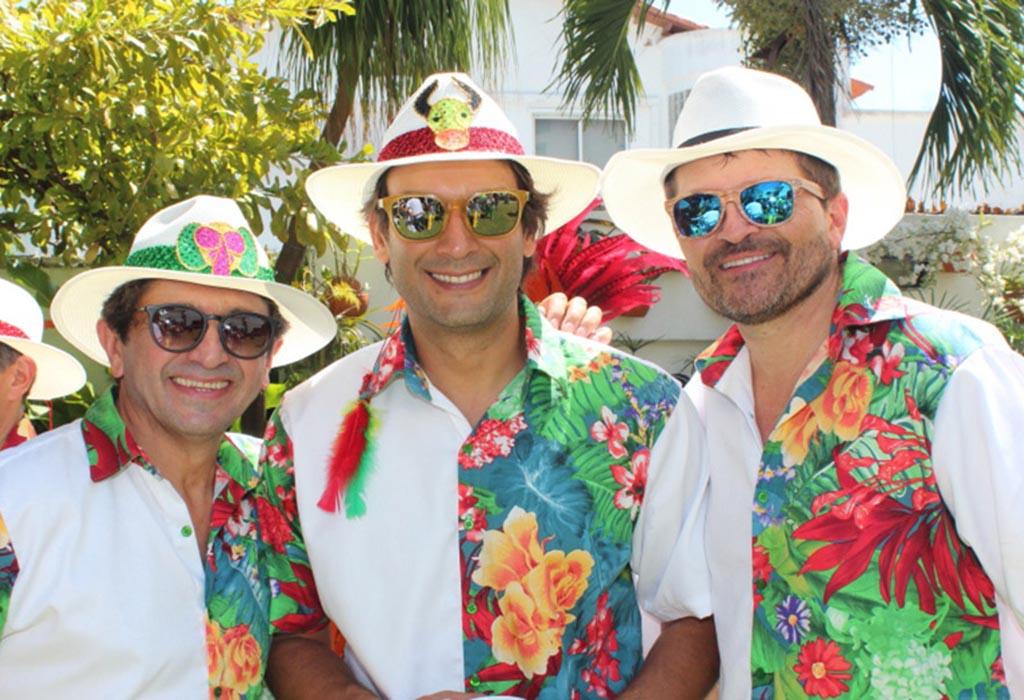 Los actores Mario Ruiz, Juan Pablo Posada y Julio César Herrera.