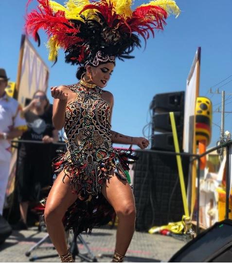 La cantante 'Martina La Peligrosa' le puso el toque rumbero al Carnaval de Barranquilla.