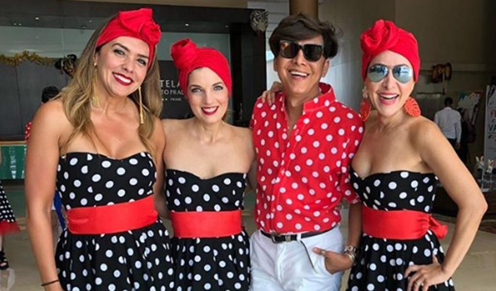 La presentadora Mónica Rodríguez, la periodista Alexandra Pumarejo, el estilista Franklin Ramos y la sexóloga Flavia Dos Santos.