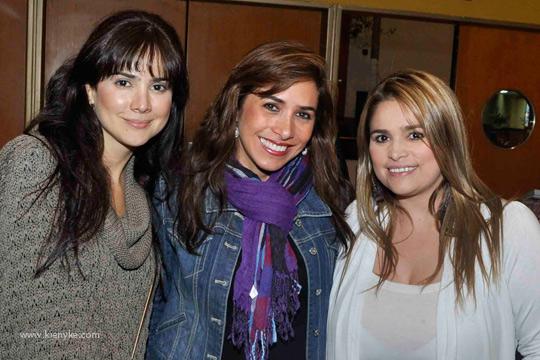 María Fernanda Navia, Patricia Valderiti y Francis Rodríguez