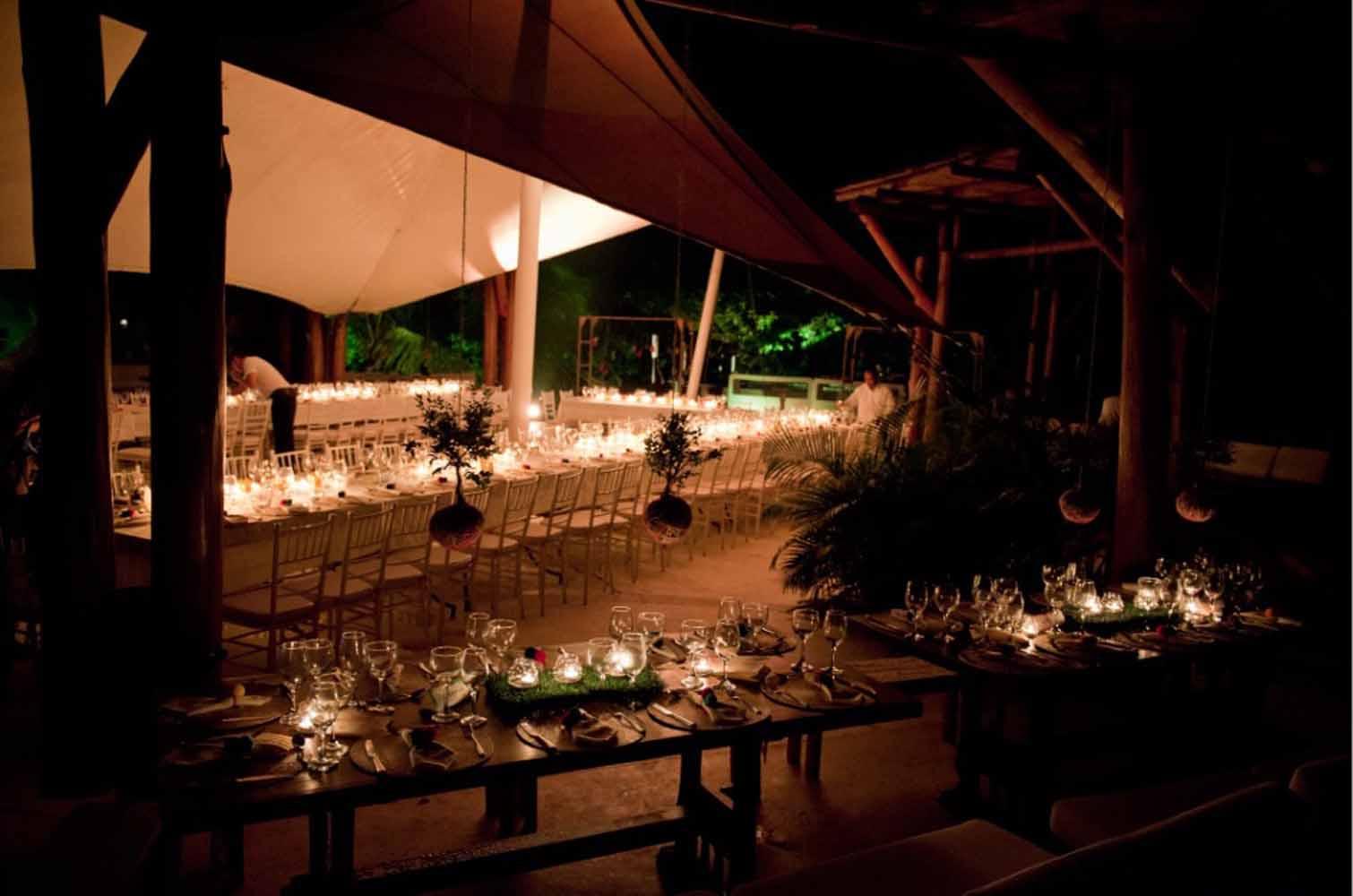 La reserva natural man macana fue escogida para la recepción de la boda