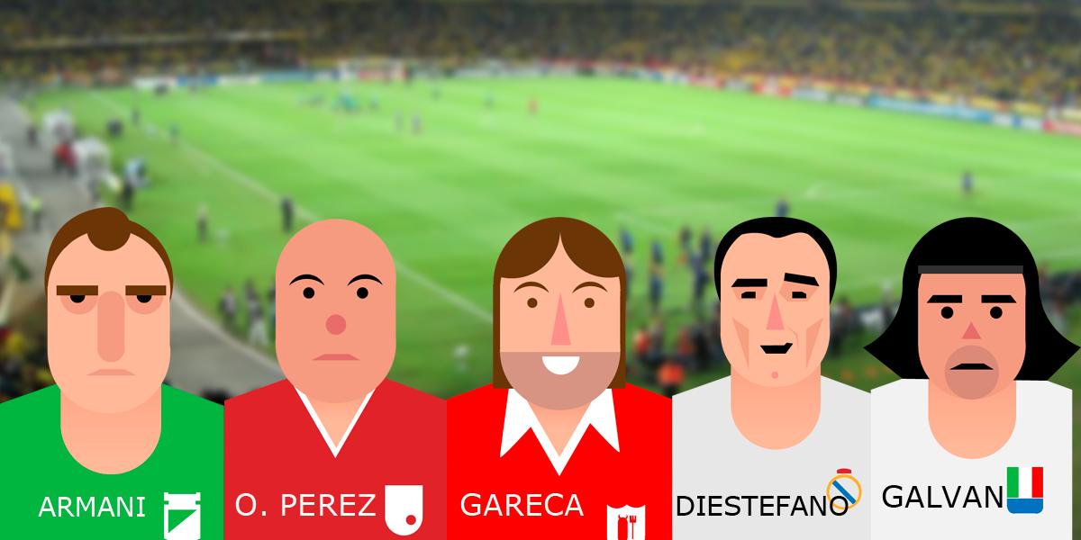 Cinco futbolistas argentinos que son recordados en Colombia