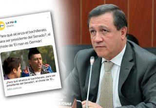 Ernesto Macías cargó contra el director de una emisora